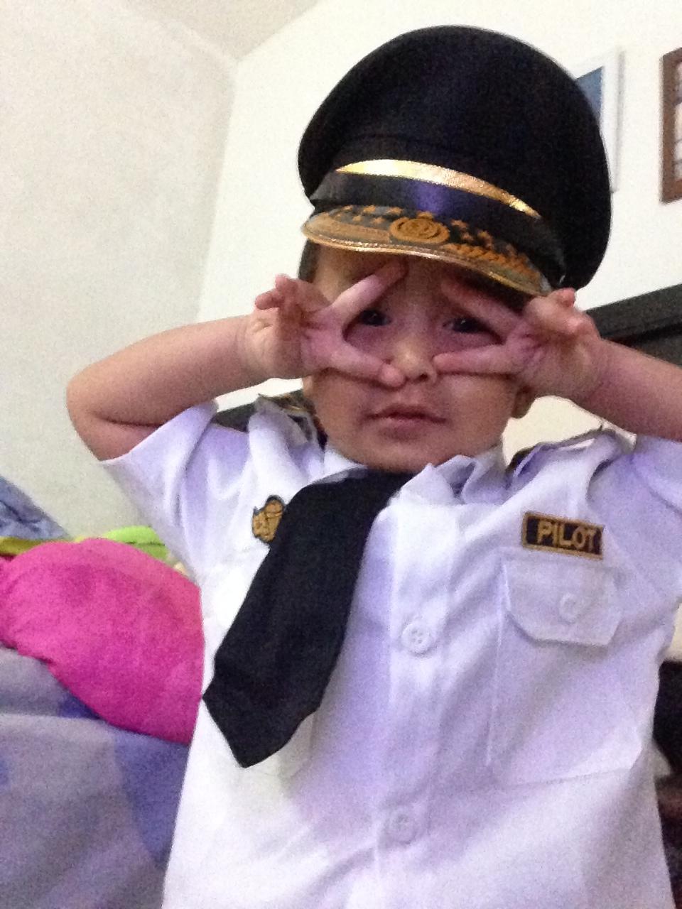Baju Pilot Lucu Untuk Anak TK Agege Saputra